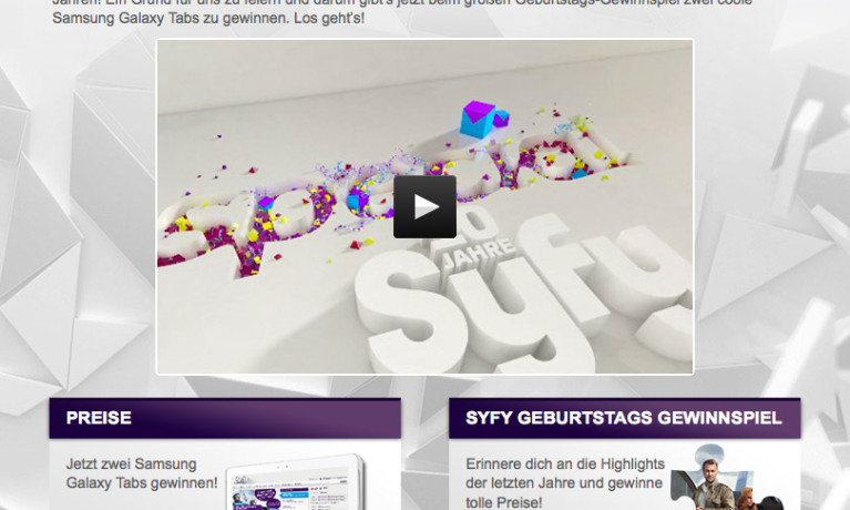 syfy.de – 10 Jahre Gewinnspiel